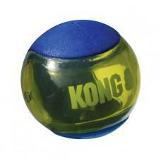 KONG Squeezz Action Ball Blue Medium Dog Toy 3 pack