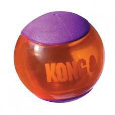 KONG Squeezz Action Ball Purple Large Dog Toy 2 pack
