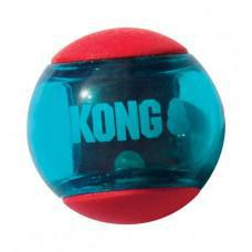 KONG Squeezz Action Ball Red Large Dog Toy 2 pack