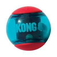 KONG Squeezz Action Ball Red Small Dog Toy 3 pack